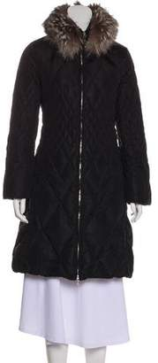Post Card Fur-Trimmed Down Coat