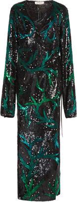 ATTICO Sequined robe dress
