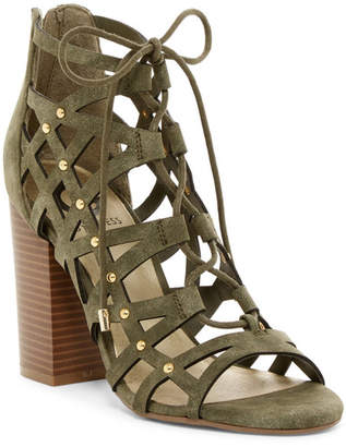 G by GUESS Juto Caged Lace-Up Sandal $69 thestylecure.com