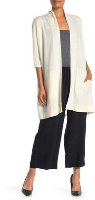 Jarbo Open Front Linen & Cashmere Long Cardigan
