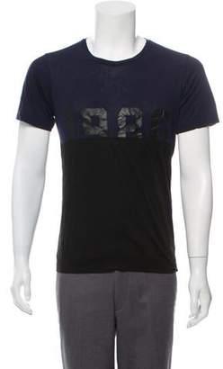 Dries Van Noten Graphic Print Colorblock T-Shirt