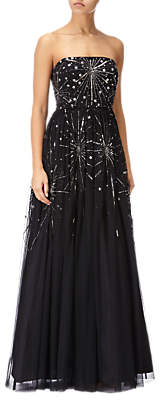 Adrianna Papell Beaded Ball Gown, Black