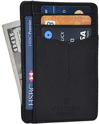 RFID Front Pocket Slim Wallets for Men - Genuine Leather Minimalist Credit Card Holder By Clifton Heritage (