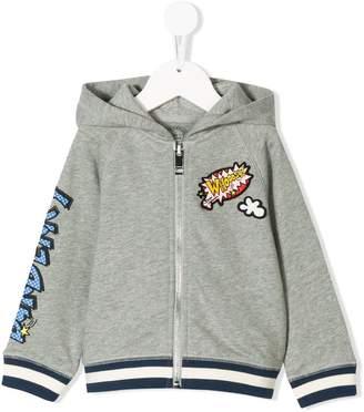 Burberry comic patch zip hoodie