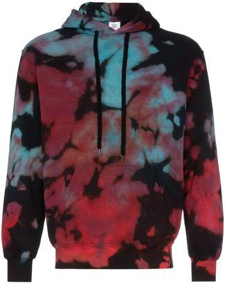 Stain Shade tie dye cotton hoodie