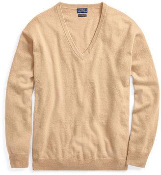 Polo Ralph Lauren Cashmere V-Neck Sweater $245 thestylecure.com