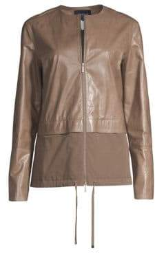 Lafayette 148 New York Albany Lacquered Lambskin Jacket