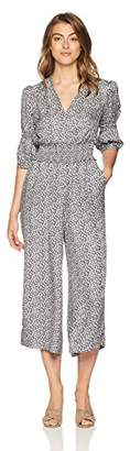 Rebecca Taylor Women's Silk Floral Jumpsuit with Voluminous Sleeve