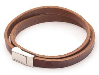 Ezra Arthur Double Wrap Leather Bracelet