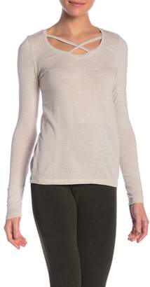 Poof Strappy Neck Long Sleeve Tee