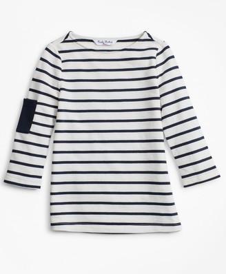 Brooks Brothers Girls Cotton Stripe T-Shirt