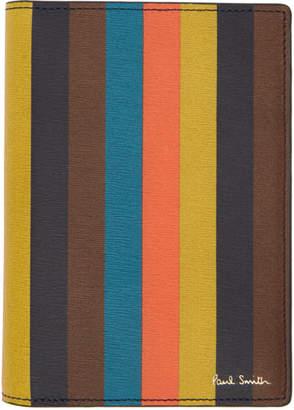 Paul Smith Multicolor Striped Passport Holder