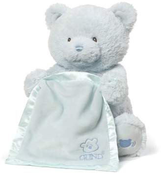 Gund Blue My First Teddy Peek-A-Boo