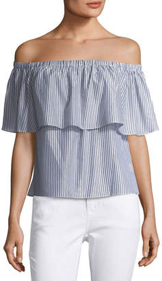 Waverly Grey Courtney Striped Off-the-Shoulder Top
