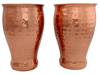 Unbranded DOUBLE WALL HAMMERED PINT GLASS
