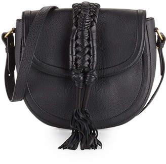 Altuzarra Ghianda Leather Saddle Bag, Black