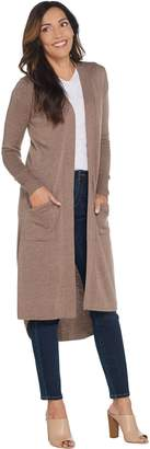 Halston H By H by Regular Open Front Hi-Low Duster Cardigan