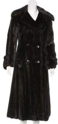 Halston Double-Breasted Mink Fur Coat