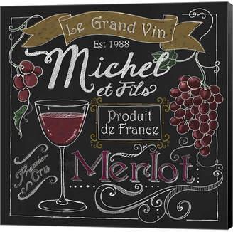 Metaverse Wine Chalkboard I By Fiona Stokes-Gilbert Canvas Art