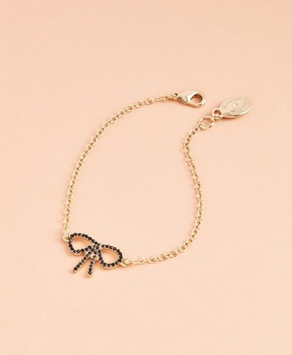 Brooks Brothers Crystal Pave Bow Bracelet