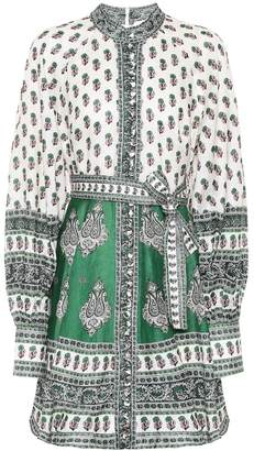 Zimmermann Amari printed linen minidress