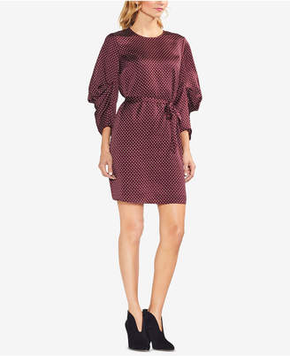 Vince Camuto Printed Drape-Sleeve Dress