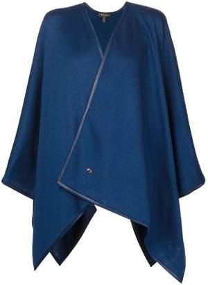 Loro Piana contrast trim shawl