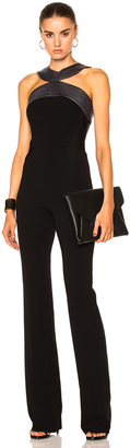 Mugler Fitted Cady Topstitch Jumpsuit $2,600 thestylecure.com