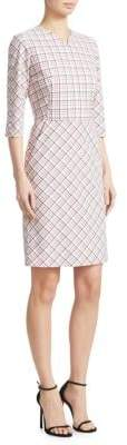 Piazza Sempione Check-Print Sheath Dress