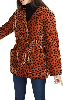 Madewell Velvet Quilted Kimono Jacket