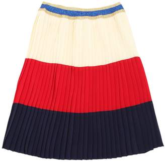 Gucci Plisse Silk Georgette Skirt