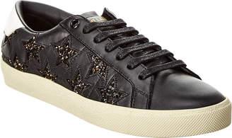 Saint Laurent Court Classic Sl/06 Glitter Leather Sneaker