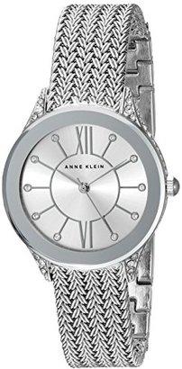 Anne Klein (アン クライン) - Anne Klein Women 's AK / 2209svsvスワロフスキークリスタルアクセントシルバートーンメッシュブレスレット腕時計
