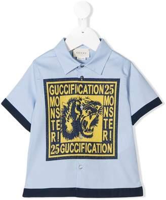 1d7a13adb01 Gucci Kids Guccification print shirt