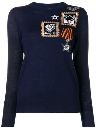Temperley London patch knit jumper