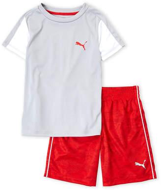 Puma Boys 4-7) Grey Tee & Red Short Set