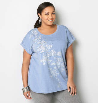 Avenue Floral Applique Active Top