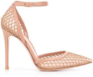 Gianvito Rossi Praline Fishnet sandals