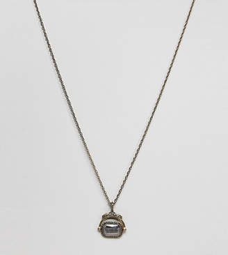 Reclaimed Vintage inspired necklace with spinning coin pendnat exclusive at ASOS