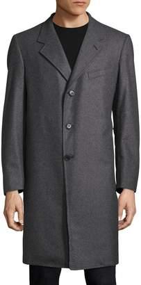 Martin Greenfield Men's Wool Cropped Notch Lapel Top Coat