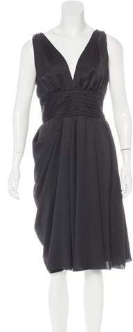 pradaPrada V-Neck Satin Dress