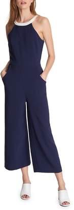 Karl Lagerfeld Paris Wide-Leg Cropped Jumpsuit