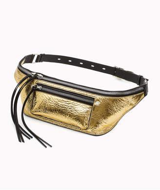 Rag & Bone Elliot Metallic Leather Fanny Pack/Belt Bag