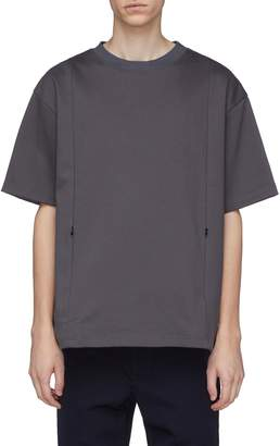 meanswhile Zip pocket panelled T-shirt