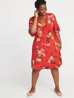 Old Navy Waist-Defined Plus-Size Wrap-Front Dress