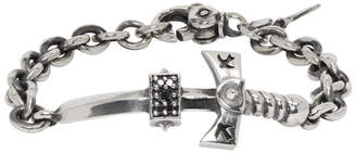Black Diamond Luka Sabbat x Monini Silver and Sword Bracelet