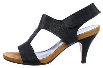 Aquatalia Leather T-Strap Sandals
