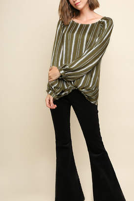 Umgee USA Instyle Stripes top