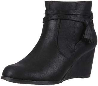 Sugar Women's Hiya Casual Platform Wedge Heel Side Tassels Ankle Boot