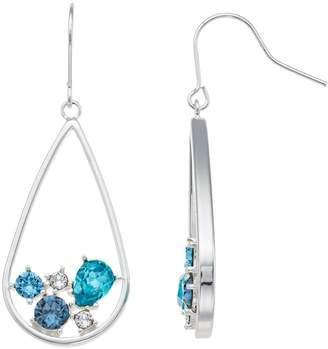 Brilliance+ Brilliance Swarovski Crystal Inset Teardrop Hoop Earrings
